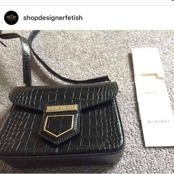Givenchy Nobile Croc Embossed Cross Body Bag 7aafa48c23bec